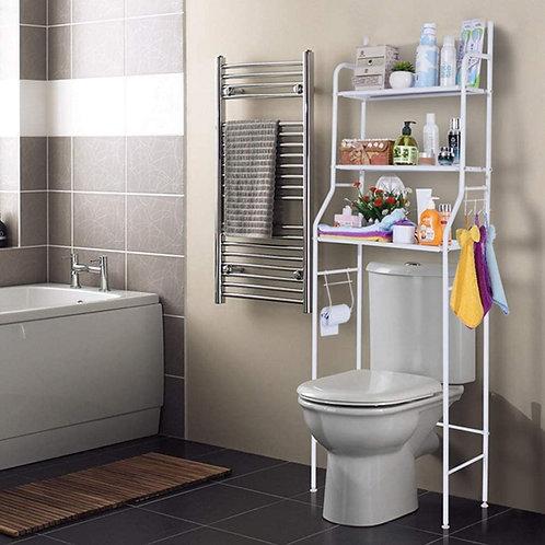 3 Layer Over The Toilet Adjustable Bathroom Storage Organizer Rack