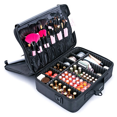 Professional Large Storage Makeup and Cosmetic Organizer Travelling Suitcase Bag