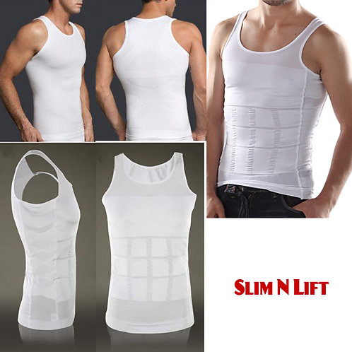 Slim n Lift Body Shaper Tummy Tucker Slimming Vest Banyan Innerwear for Men