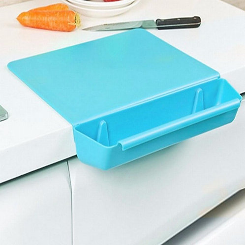 Detachable Cutting & Chopping Green Non-Slip Groove Board Trey For Kitchen
