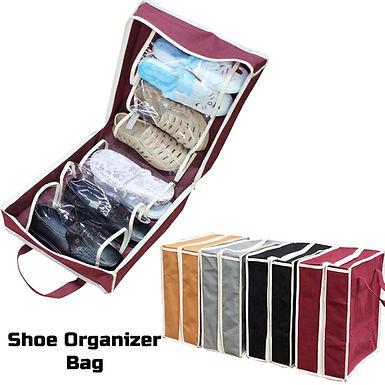 Shoe Tote 6 Pair Shoes Organizer Travel Bag