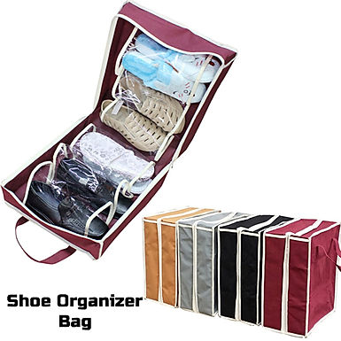 Shoe Tote 6 Pair Shoes Organizer Travel Bag