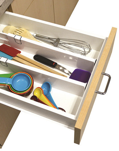 Snap Fit Adjustable Drawer Dividers Organizer - Set of 2