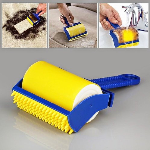 Reusable & Washable Lint Cleaning Pet Hair Remover Sticky Buddy Roller Brush