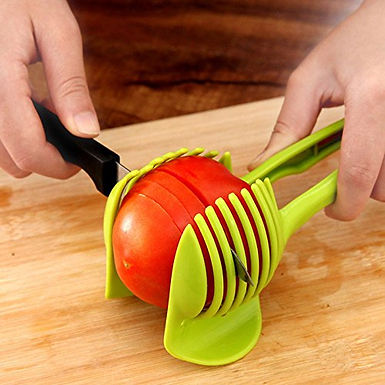 Potato Slicer Tomato Cutter Tool Shredder Lemon Cutting Holder Kitchen Tools