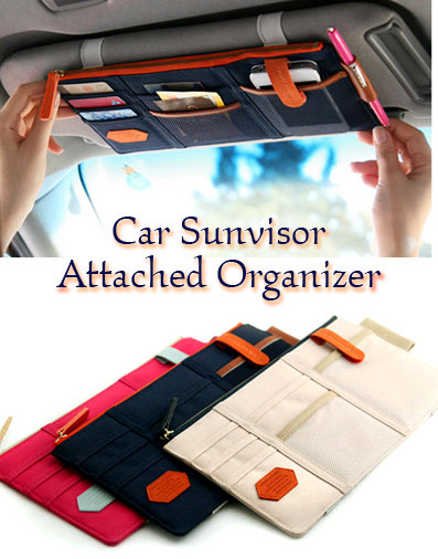 Car Sun Visor Card Document Pen Storage Pouch Organizer Holder Bag
