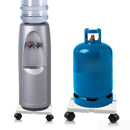 Movable Gas Cylinders and Drinking Water Dispenser With Adjustable Base Stand