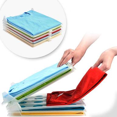 10 Layer Anti-Wrinkle Ezstax T-Shirt Organizing System Clothes Storage Organizer