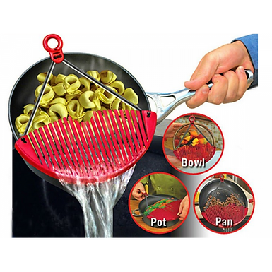 Better Strainer Expandable Collapsible Colander Fits Any Pots Pans & Bowls