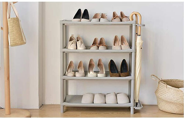 4 Tier Shoe Storage Rack Easy Assembling Shelf With Umbrella Stand