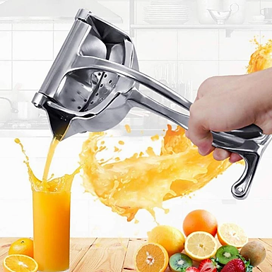 Single Press Aluminium Metal Manual Hand Press Fruit Juicer and Lemon Squeezer