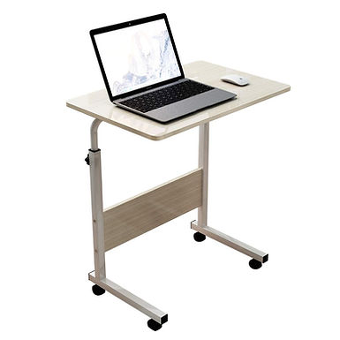 40 x 80 Portable Laptop Table Stand With Adjustable Movable Wheels for Bed, Sofa