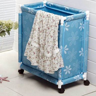Fabric Clothes Laundry Basket with Wheels