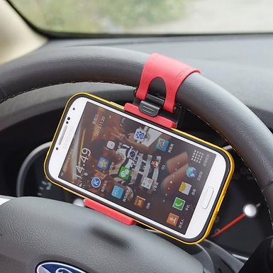 Car Steering Wheel Smartphone Socket Mobile Phone Holder Stand For Car