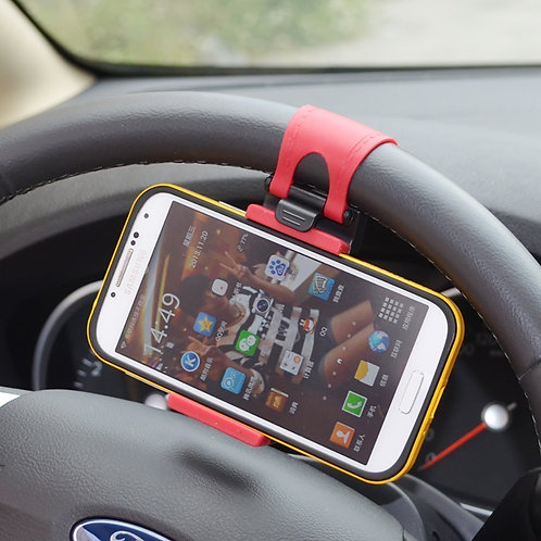 Car Steering Wheel Smartphone Socket Mobile Phone Holder Stand For Car