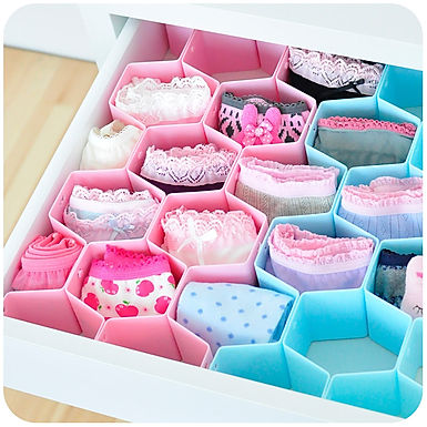 Honeycomb Cabinet Drawer Divider Organizer For Ties Socks Bra Underwear