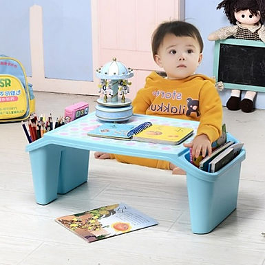 Small Children Study Portable Plastic Table With Storage For Kids and Adult