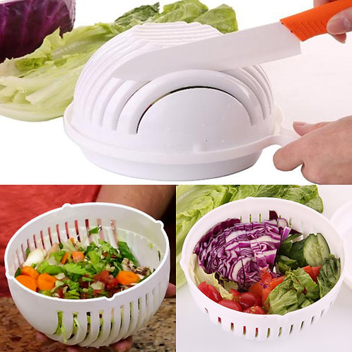 Salad Cutter Strainer Multipurpose Fruits and Vegetable Salad Cutting Bowl