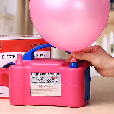 Electric Air Balloon Pump With Dual Nozzle Inflator Blower for Party Decoration