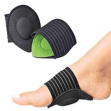 2Pcs Strutz Cushioned Arch Foot Support Decrease Plantar Fasciitis Pain Reliever