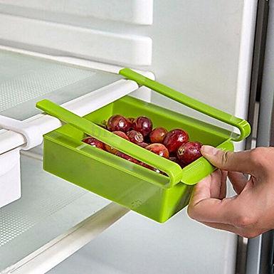 Multi-Purpose Pull-Out Shelving Fridge Food Storage Drawer Organizer