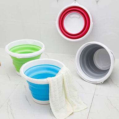 Premium Collapsible Bucket Container Space Saving for Multipurpose Usage