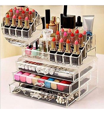 3 Tier Drawers Makeup Cosmetics Jewellery Organizer Acrylic Display Box Storage
