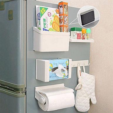 5 in 1 Refrigerator Magnetic Fridge Rack Organizer Set and Tissue Paper Holder