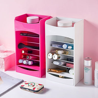 Multilayer Lipstick Nail Polish Cosmetic Makeup Accessories Storage Organizer