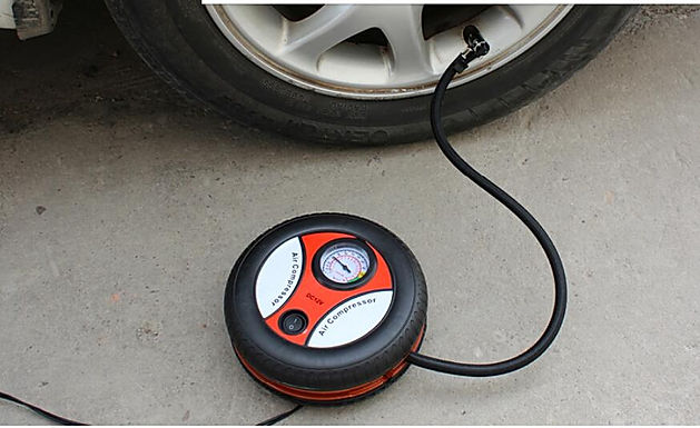 Electric Mini DC 12V Air Compressor Pump Portable Tire Inflator for Car and Bike