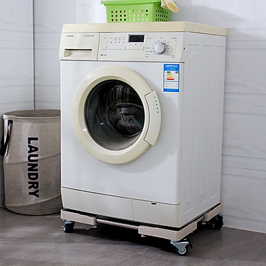 Adjustable and Detachable Washing Machine and Refrigerator Stand With Wheels