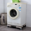 Thumbnail: Adjustable and Detachable Washing Machine and Refrigerator Stand With Wheels