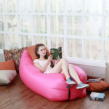 Sofa Inflatable Sleeping Bag Bed Beach Camping Hangout Lazy Air Couch Bed