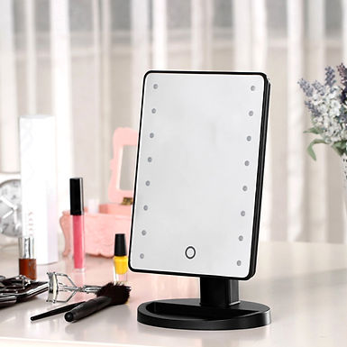 Makeup Mirror with Dimmable LED Light