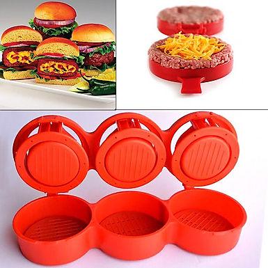 Burger Press Kit 3 in 1 Non Stick Stufz Sliders Veggie Hamburger & Patties Maker