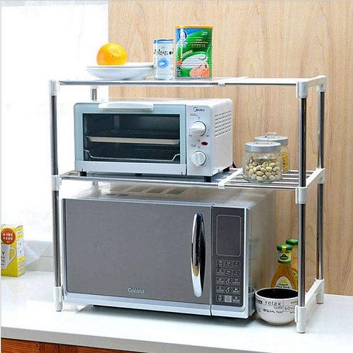 Multipurpose 2 Tier Storage Rack For Kitchen Microwave Oven Shelf Organizer
