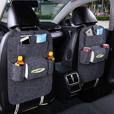 Car Back Seat Multi Pocket Storage Organizer With Tissue & Water Bottle Holder