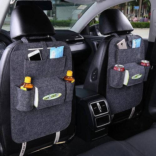 Car Back Seat Multi Pocket Storage Organizer With Tissue & Water Bottle Holder