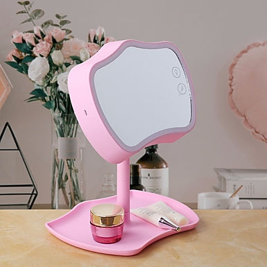 Lighting Bathroom Make-Up Mirror Table Lamp LED Touch Screen With Storage