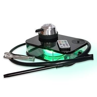 LED Acrylic Hookah Shisha Portable Set Bowl With Silicone Pipe & Heating Control