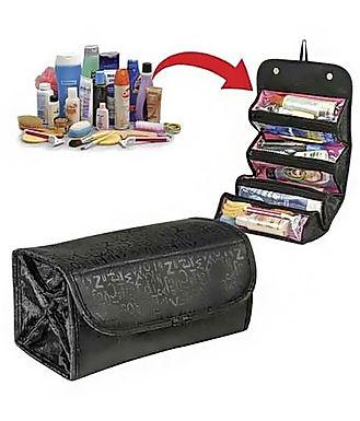Roll n Go Cosmetic Roll Up Toiletry Bag Organizer Mini Travel Storage