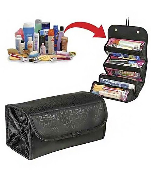 Roll n Go Cosmetic Roll Up Toiletry Bag Organizer Mini Travel Storage