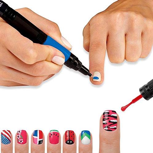 Hot Designs: Nails Varnish Art Nail Polish Pens With 6 Glitz & Glam Colours