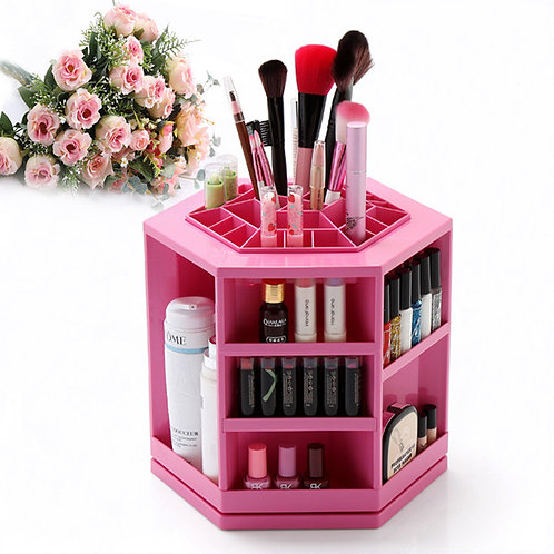 360 Degree Rotating Lipsticks Nail polish and Makeup Cosmetic Organize