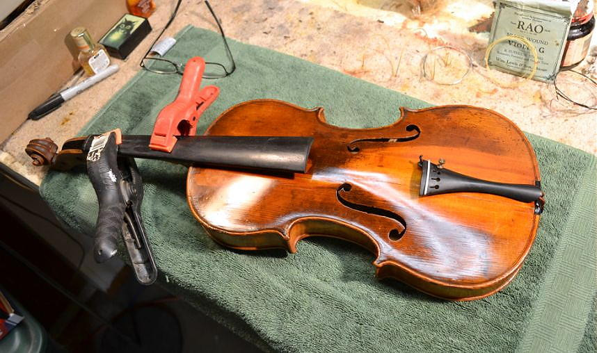 Restoration - 1920's German fiddle