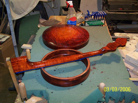 Curly maple for a custom banjo