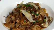 Boudro's Braised Lamb Shanks with Pappardelle Pasta