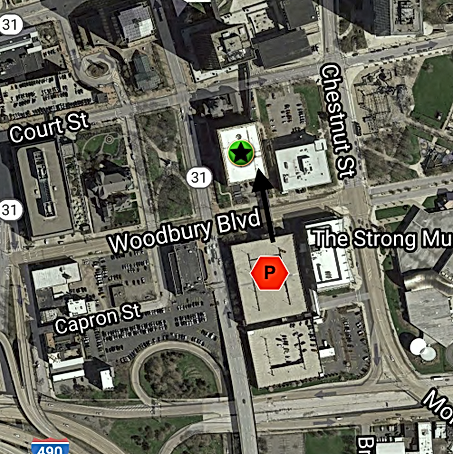 Map of Native and the Connecting Parking Garage