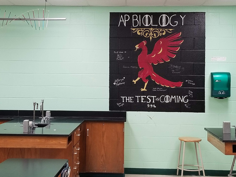 Archaeopteryx science classroom painting