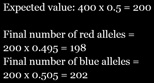 calculation of expected and observed values for a chi-squared test